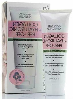 Advanced Clinicals Collagen Hyaluronic Acid Peel Off Face Ma