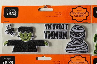 6 Packs Halloween Patches Peel'n'stick Polyester Cotton