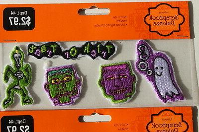 6 Packs Halloween Patches Peel'n'stick Acid Free Polyester Cotton